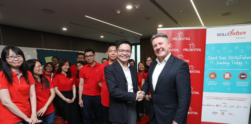 SkillsFuture Singapore to train Prudential's employees in Future Skillsets