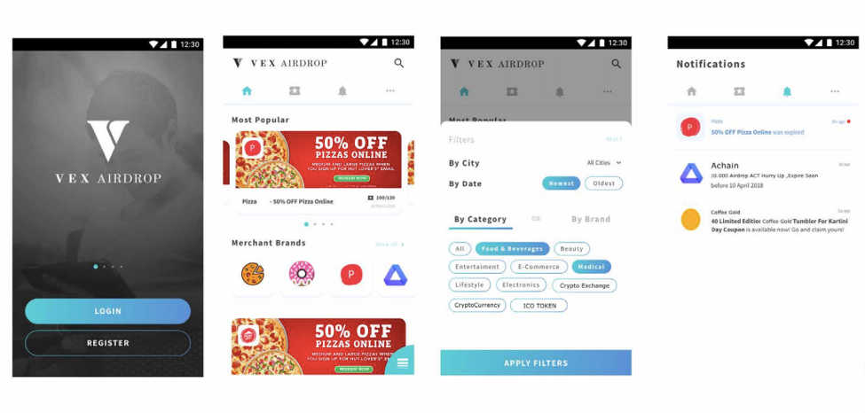 decentralized platform vexanium app