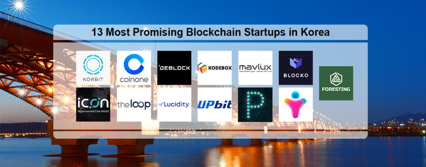 13 Most Promising Blockchain Startups in Korea