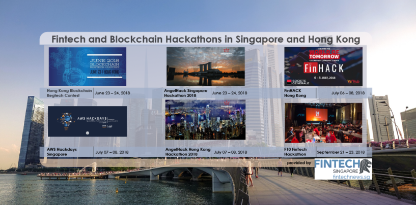 6 Upcoming Fintech Hackathons in Singapore and Hong Kong