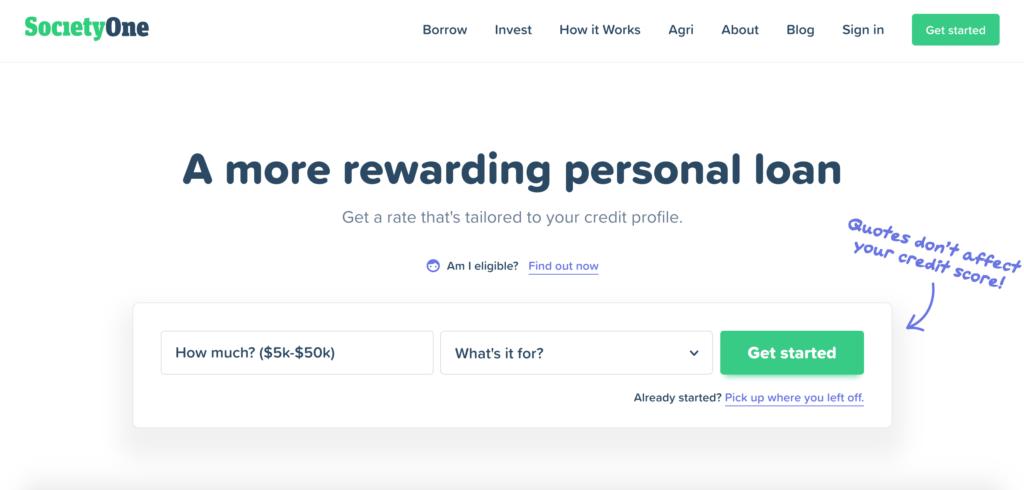 SocietyOne P2P Lending