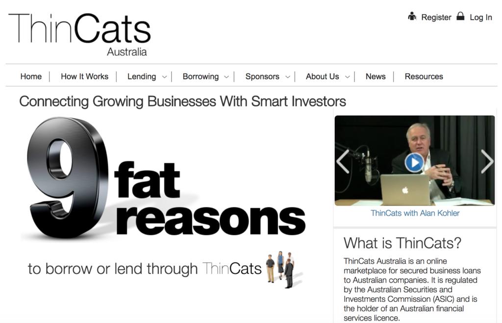 ThinCats Australia homepage