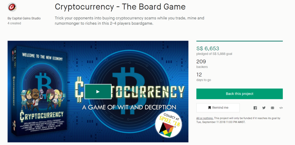 cryptocurrency board game capital gains studio monopoly kickstarter