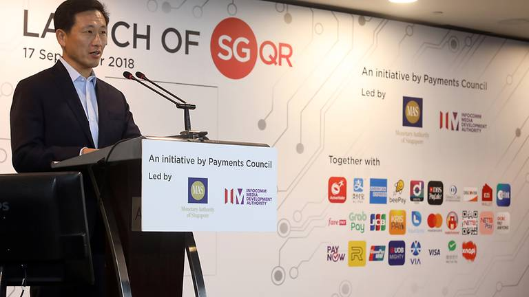 fintech mas september 2018 sgqr universal qr code launch