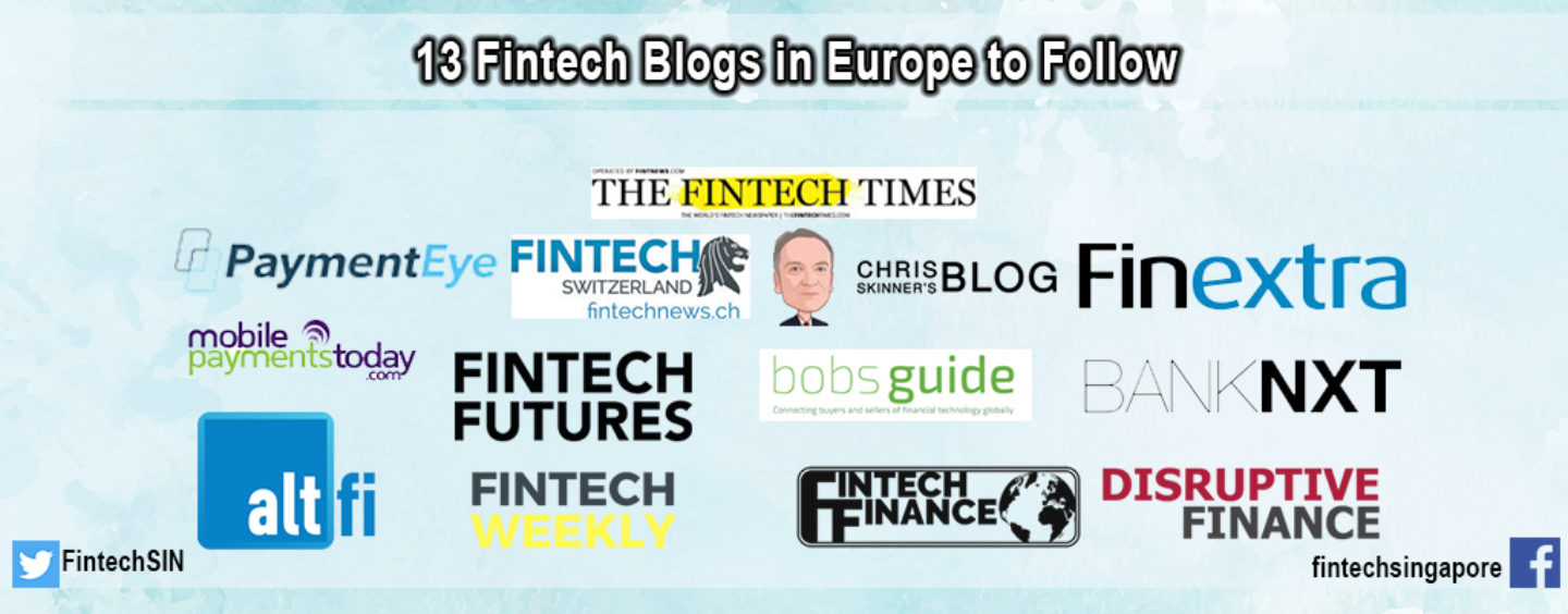 Top 13 Fintech Blogs and Newspages in Europe