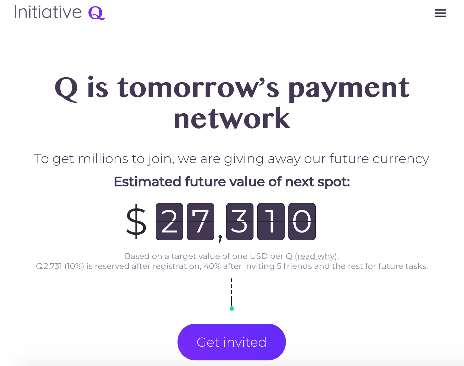 Initiative Q homepage