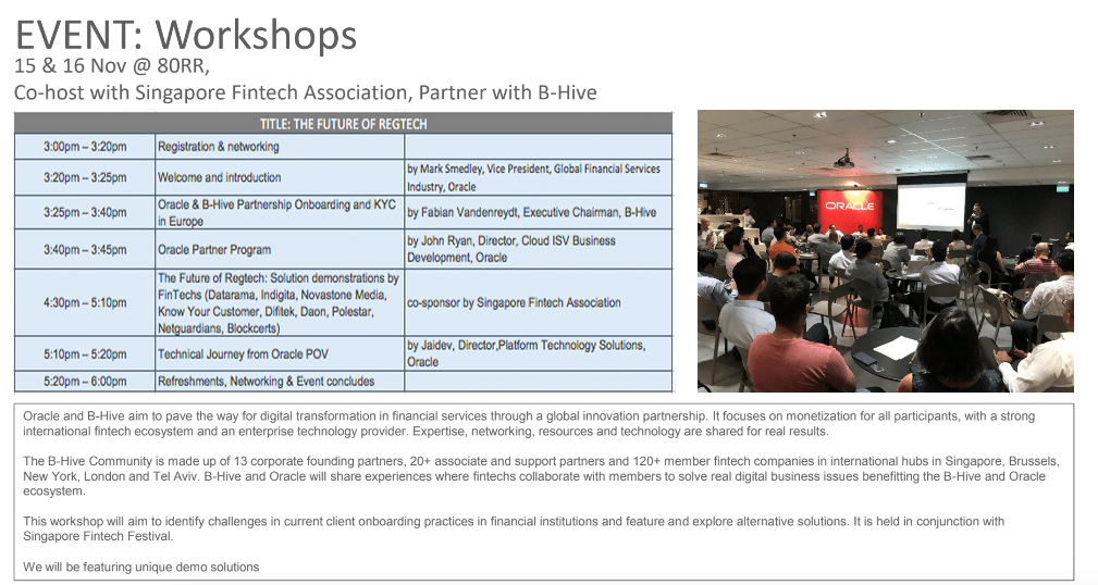 Oracle-Fintech-Workshop-Singapore-Fintech-Festival 2018