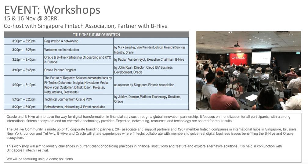 Oracle-Fintech-Workshop-Singapore-Fintech-Festival 2018
