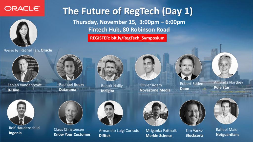 Oracle Future of Regtech Singapore Fintech Festival 2018 -SG Fintech Fest2