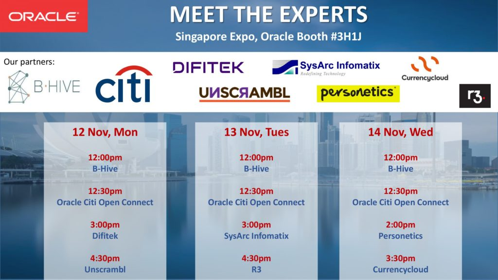 Oracle-Meet-The-Experts-Singapore-Fintech-Festival-2018--SG-Fintech-Fest-