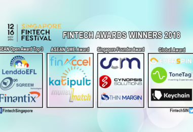 12 Companies Score SG$1.2 Mil at The Singapore Fintech Awards 2018