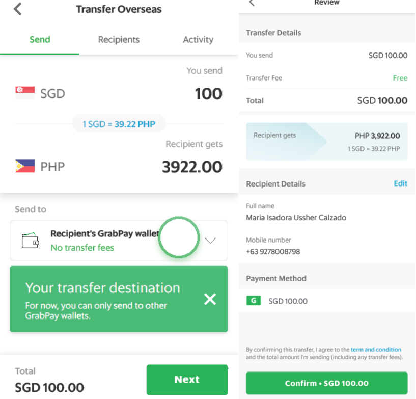 grab remittance cross-border money transfer