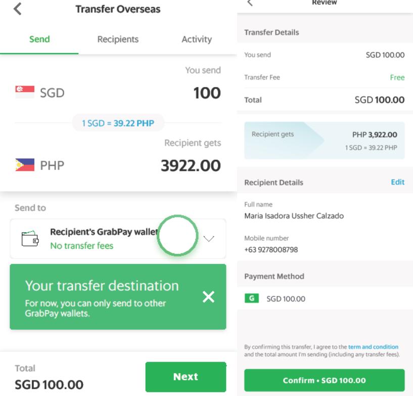 grab remittance cross-border money transfer
