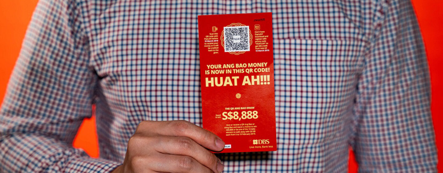 SGD 1.3 Million Were Loaded in DBS' QR Ang Baos This Chinese New Year