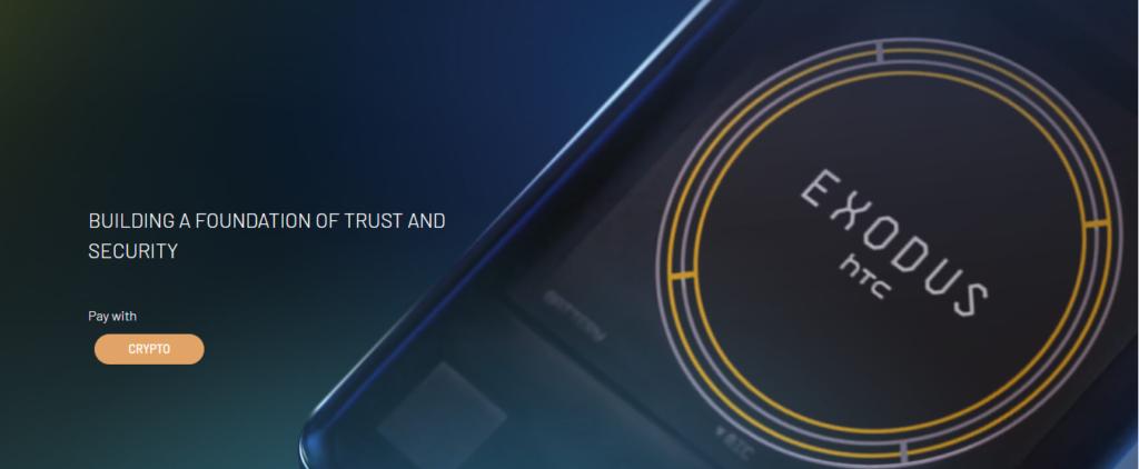 Blockchain Crypto Phone HTC Exodus