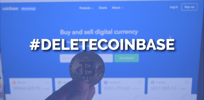 #DeleteCoinBase Trending Soon After Its Funding Boost from Singapore's GIC