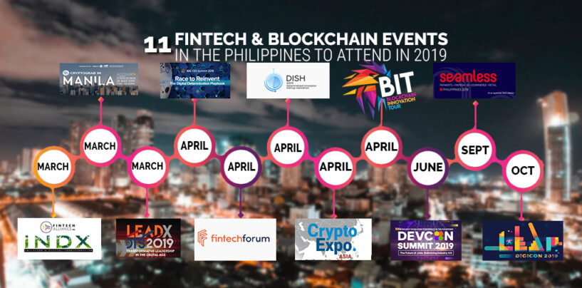 11 Fintech and Blockchain Events in the Philippines to Attend in 2019