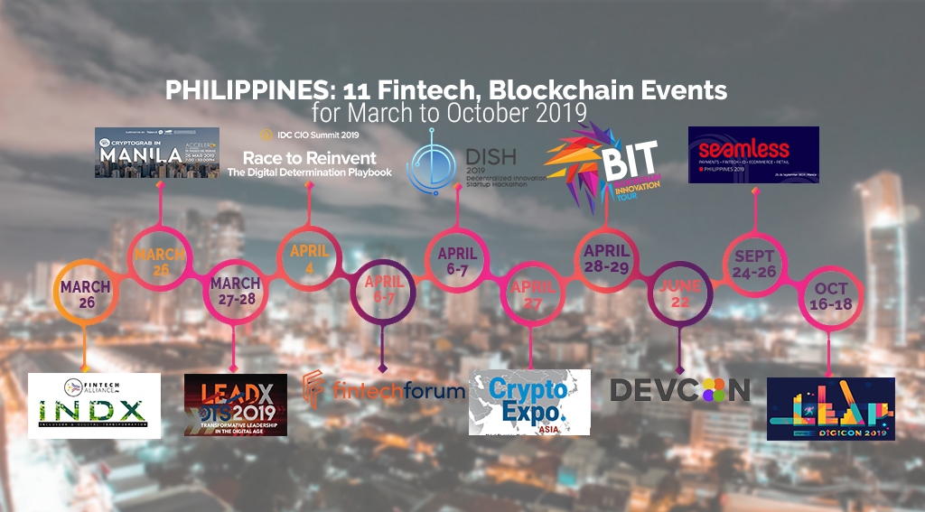Philippines: 11 Fintech and Blockchain Events to Attend in 2019