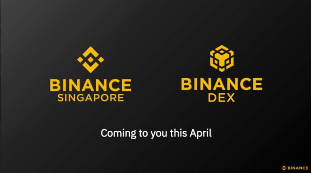 binance singapore april launch 2019