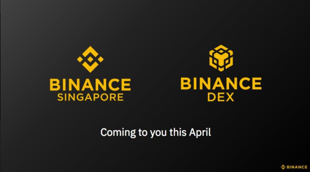 binance singapore april launch 2019
