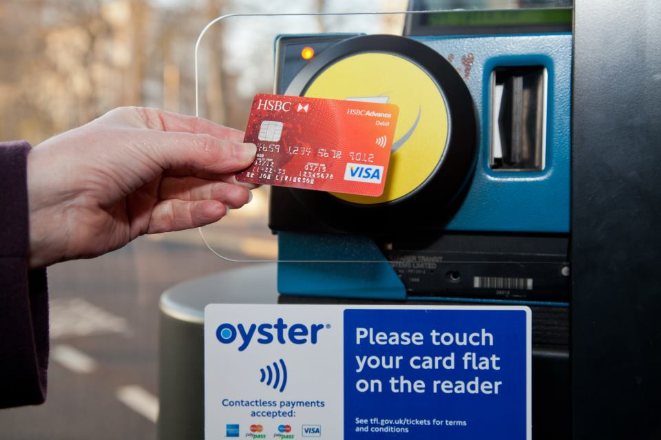 Contactless payments, Transport for London, via Facebook