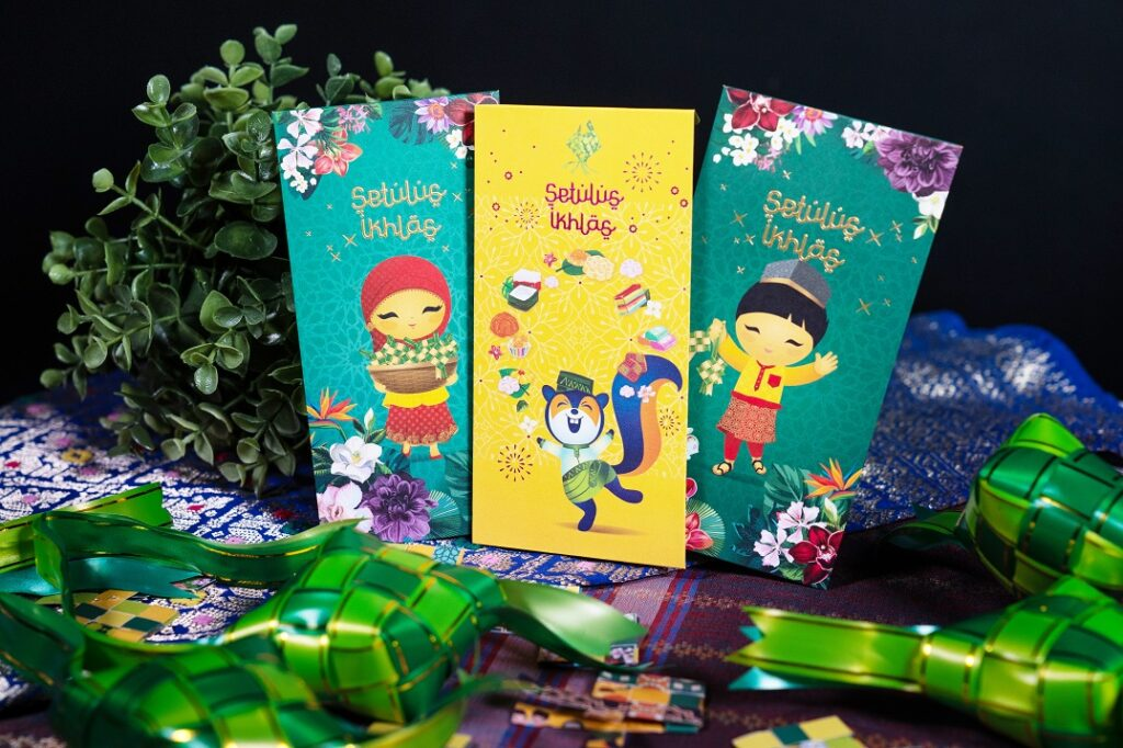 DBS POSB green packets that can be upcycled into ketupat art
