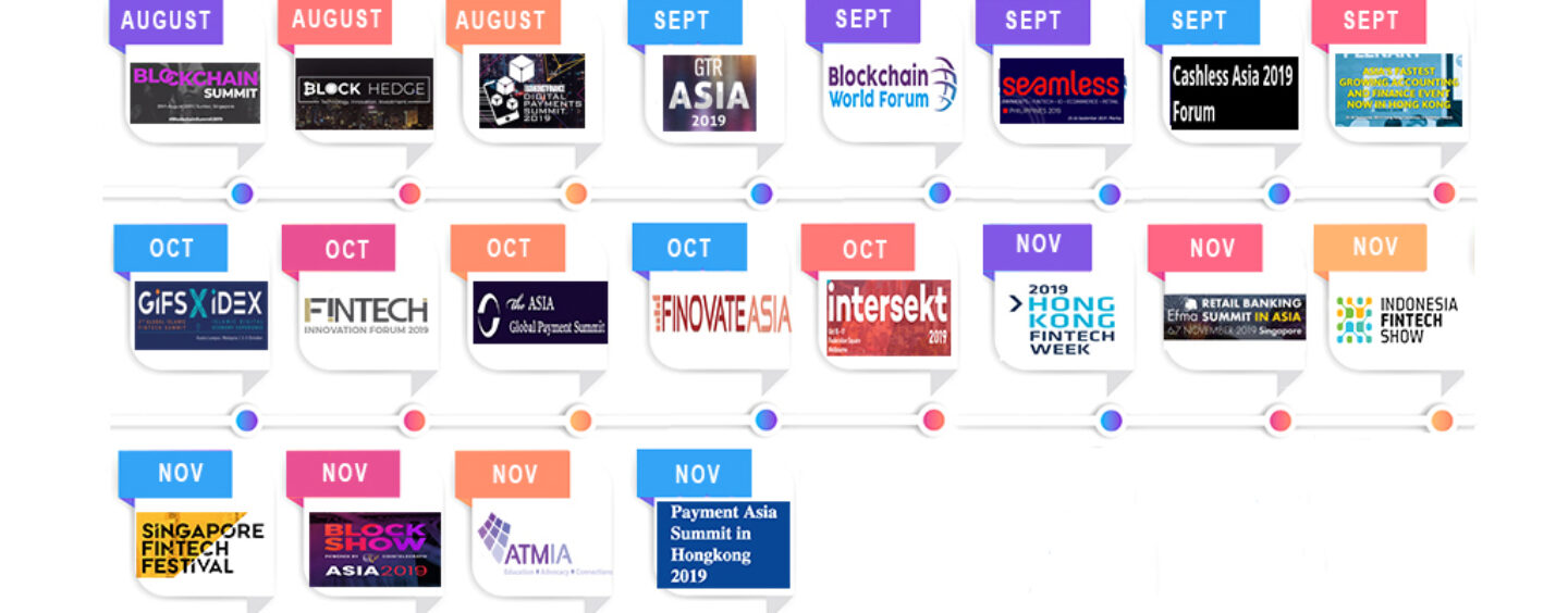 20 Upcoming Fintech and Blockchain Events in Asia Pacific to Attend in 2019