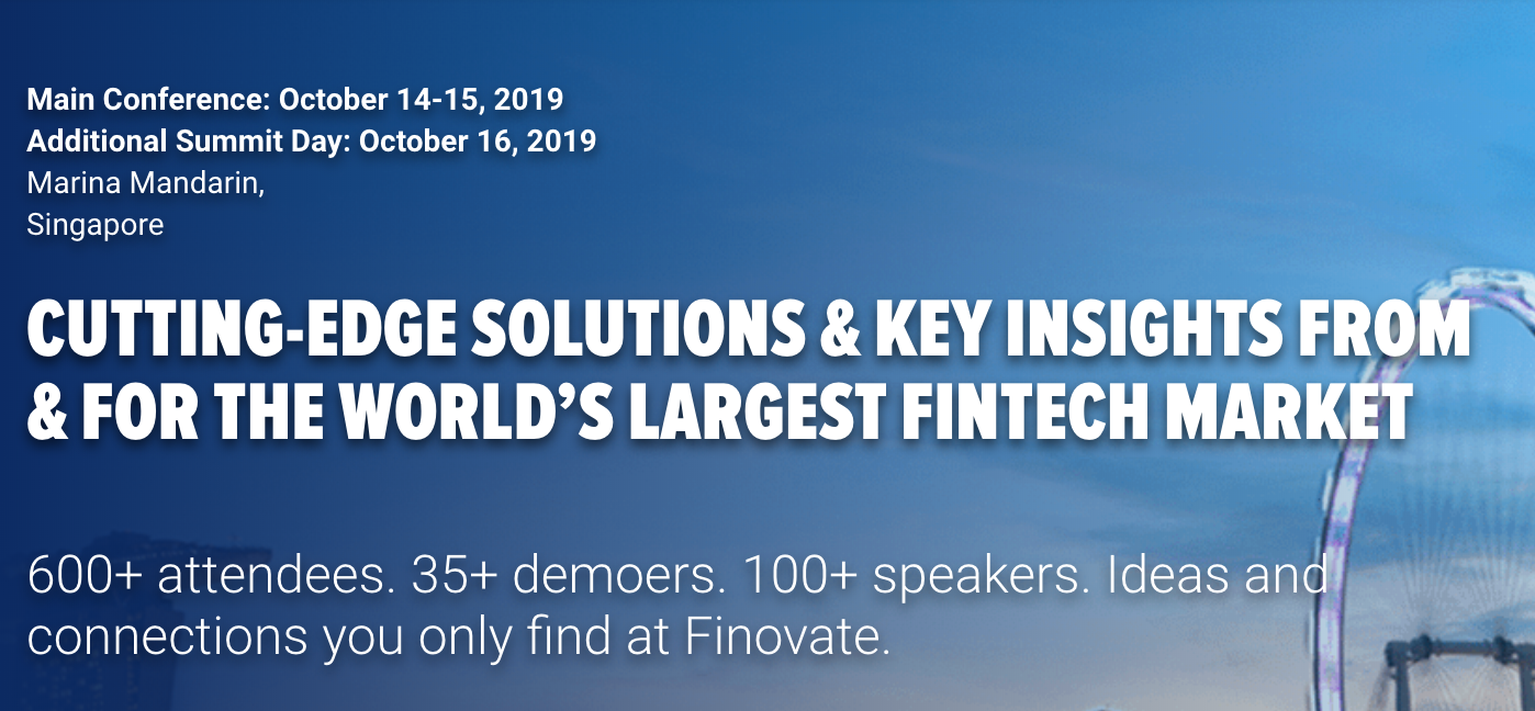 Finnovate Asia - Fintech and Blockchain Event Asia Pacific