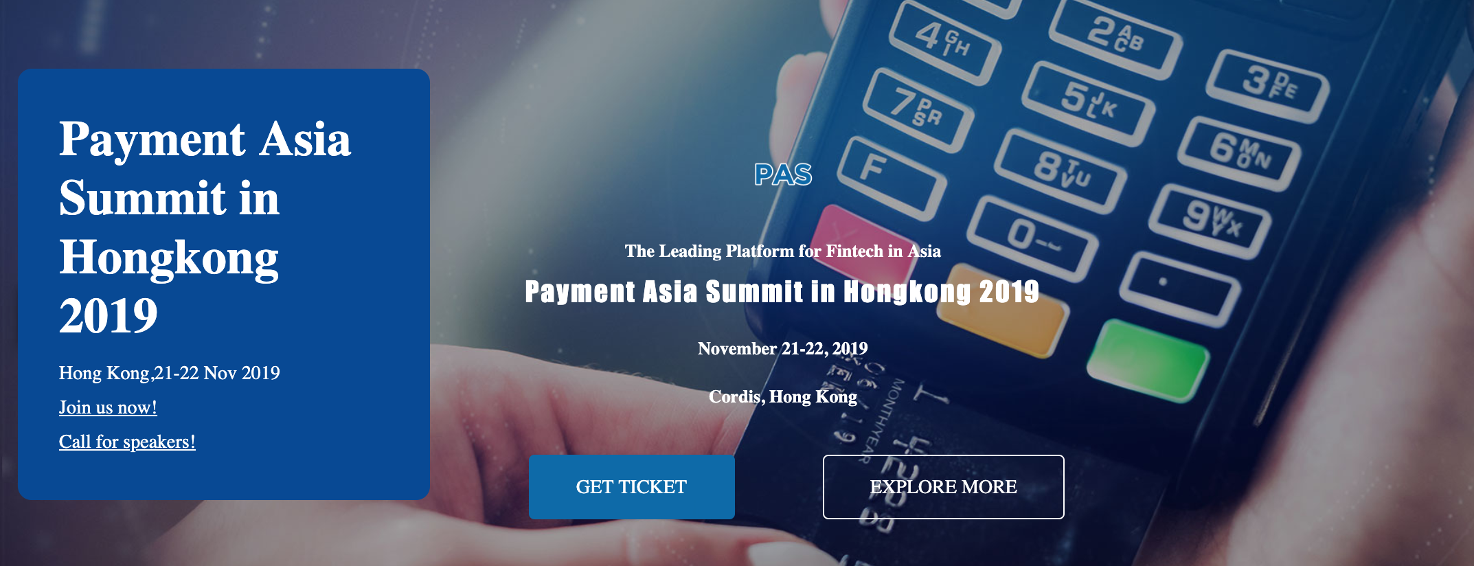 Payment Asia Summit in Hong Kong 2019