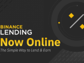 Cryptocurrency Exchange Binance Launches Lending Service