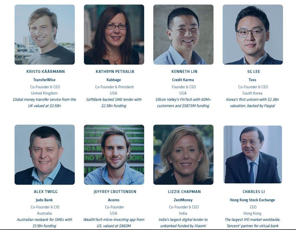 Fintech founders and CEOs attending Hong Kong Fintech Week 2019