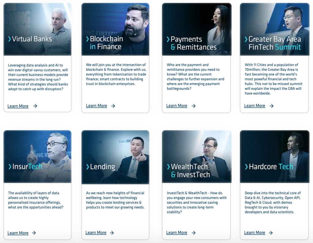 Hong Kong Fintech Week 2019 Main conference tracks