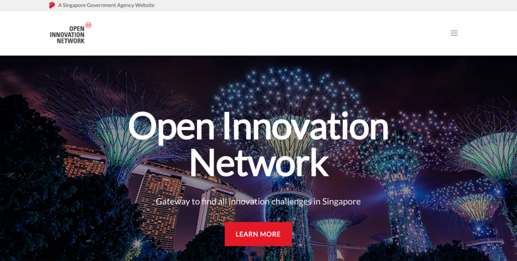 Open Innovation Network homepage, openinnovationnetwork.sg