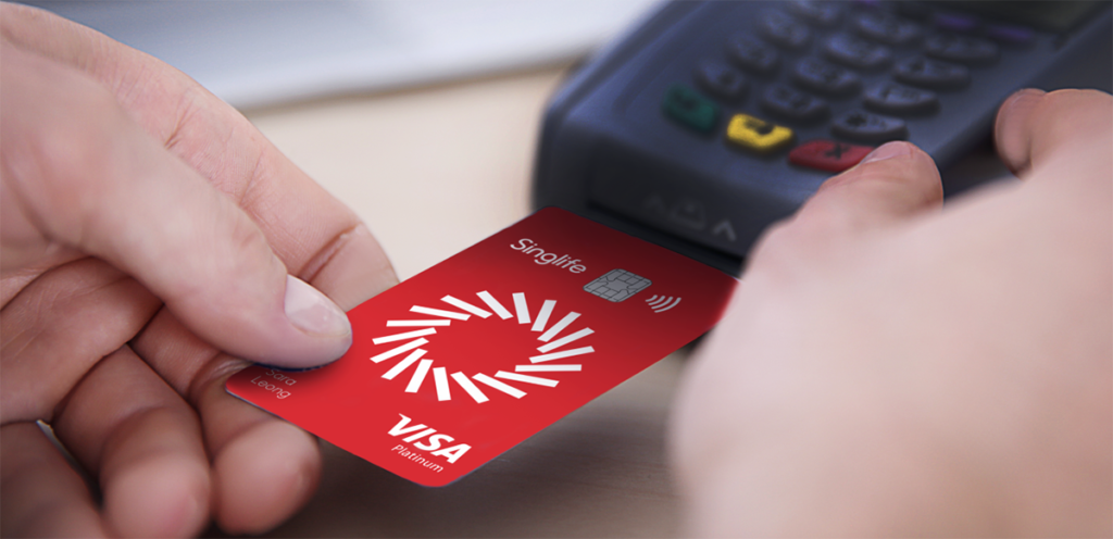 Singlife Visa Debit Card at POS Terminal