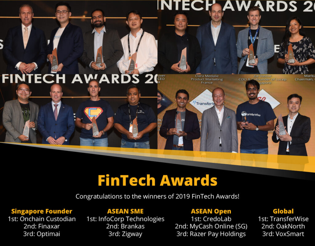Winners of the 2019 Fintech Awards