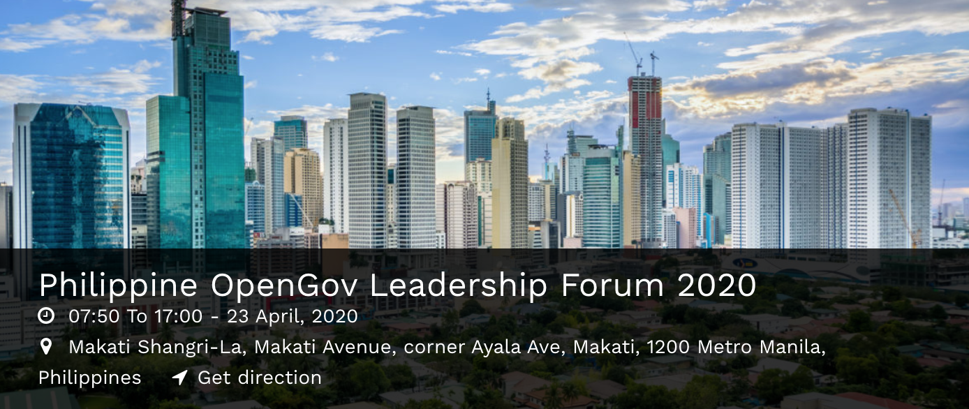 Philippine OpenGov Leadership Forum 2020