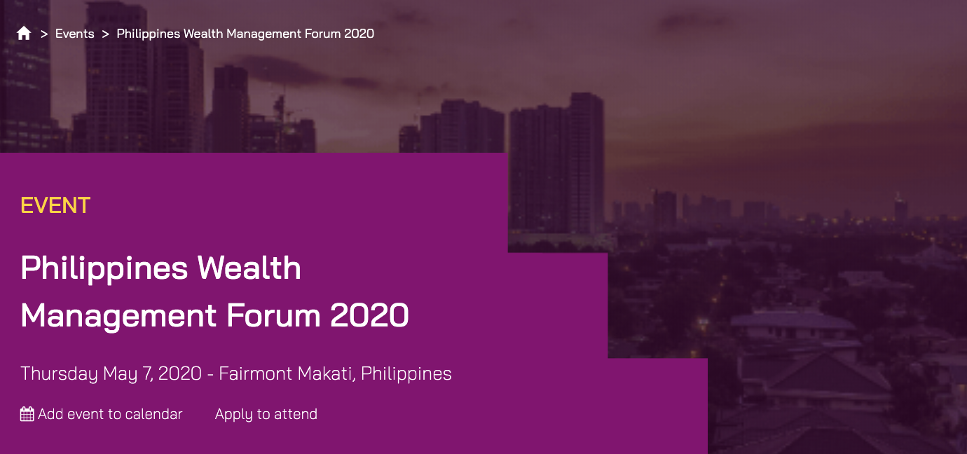 Philippines Wealth Management Forum 2020