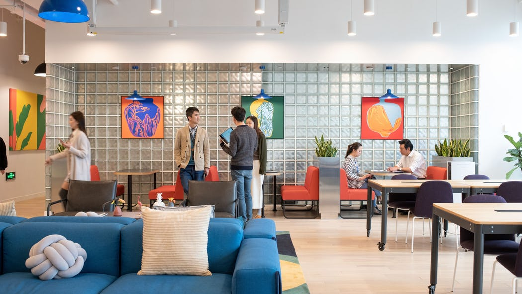 Coworking space fintech startup singapore : wework
