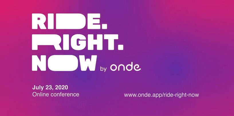 "Onde Launches ""Virtual Ride.Right.Now"" Conference for Ride-Hailing Entrepreneurs"