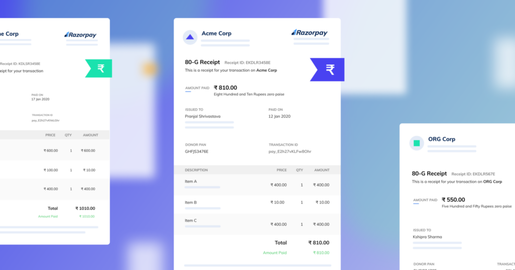 Razorpay Payment Pages