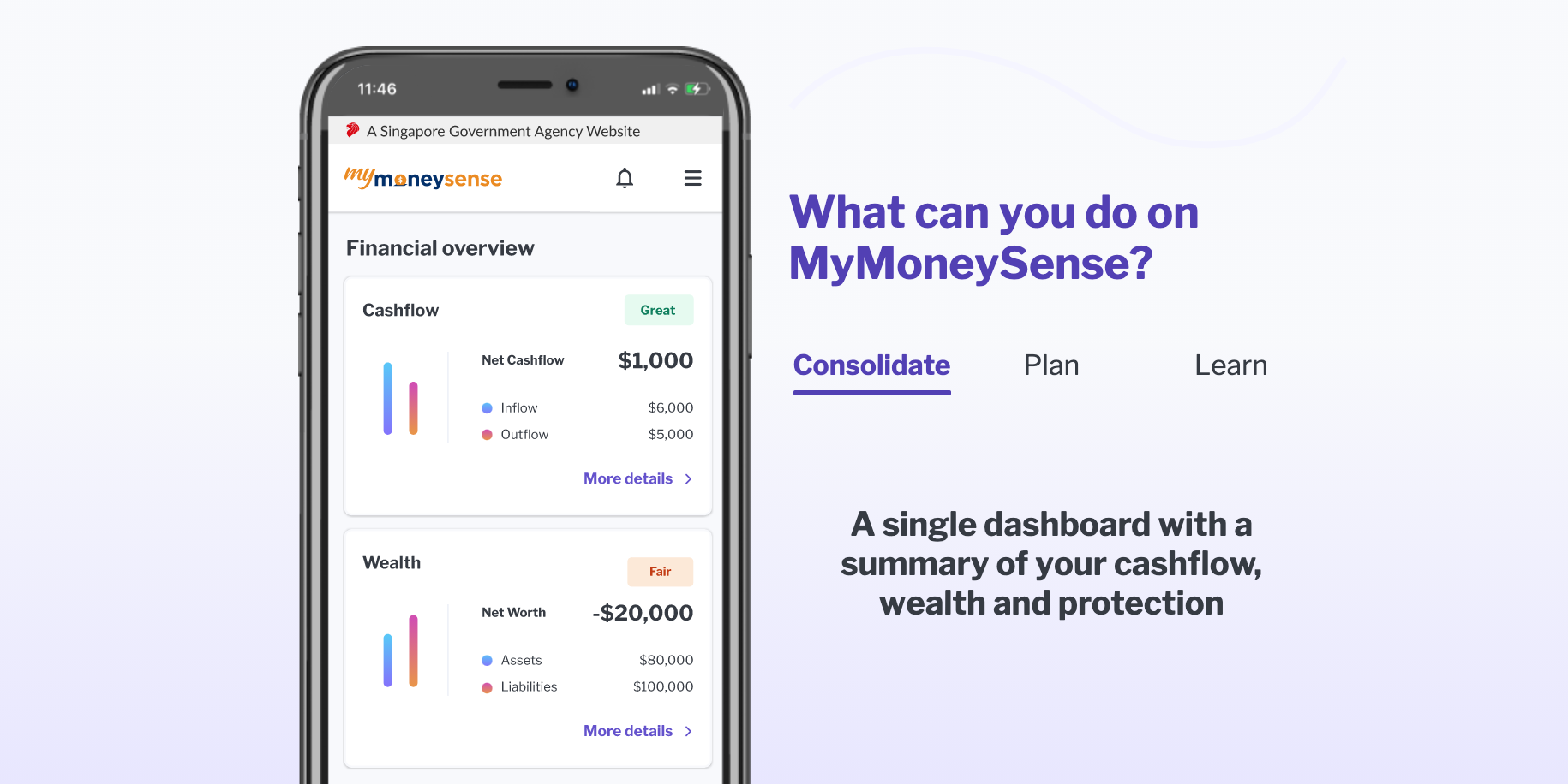 MyMoneySense mobile app, via mymoneysense.gov.sg