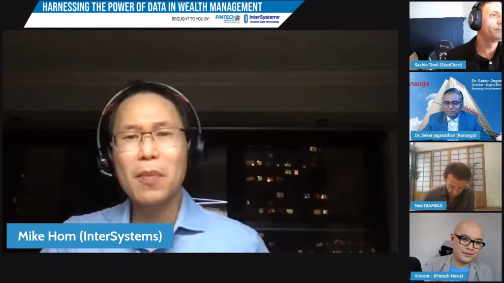 Mike Hom, Head of Financial Solutions in InterSystems - Harnessing the Power of Data in Wealth Management Webinar