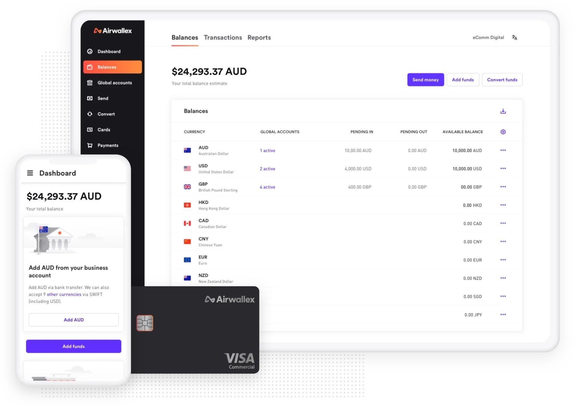 Airwallex platform and offering, Airwallex.com