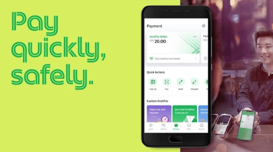 Payment features, Grab Android mobile, Google Play