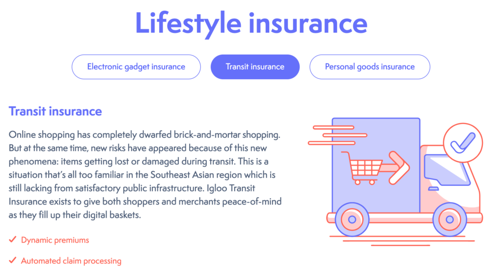 Igloo's Transit Insurance Plan protects against e-commerce goods lost or damaged during transit